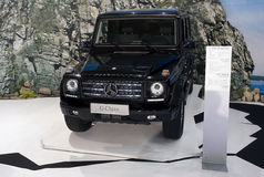 Car Mercedes G 350 Blue TEC. BELGRADE-MARCH 27: Car Mercedes G 350 Blue TEC on  the 51th International Belgrade car show.March 27,2013 in Belgrade, Serbia Royalty Free Stock Image