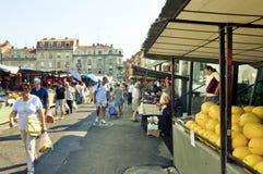 Belgrade marknad arkivfoto