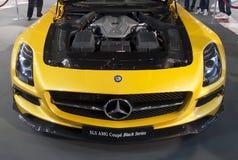 Noir Series-1 de coupé de Mercedes SLS AMG de voiture Image libre de droits