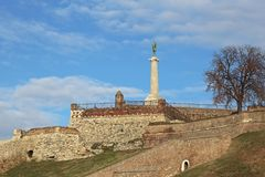 Belgrade. Medieval fortress with Victor monument landmark in Belgrade Serbia Stock Photos