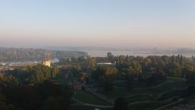 Belgrade in the morning royalty free stock photography
