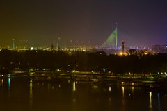 Belgrade by night Royalty Free Stock Image