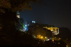 Belgrade by night Stock Images