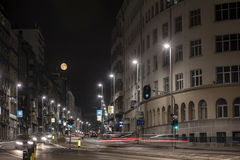 Belgrade at night Royalty Free Stock Photography