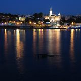 Belgrade night Royalty Free Stock Photo