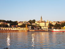 Belgrade old city in sunset Stock Images