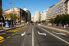 Belgrade open street stock photo
