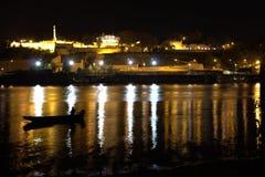 Belgrade på natten arkivfoto