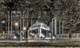 Belgrade på natten Royaltyfria Foton