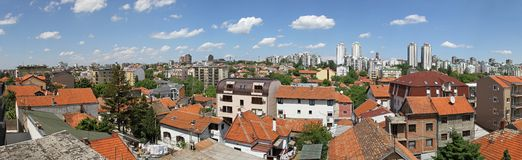 Belgrade panorama. Panorama of Belgrade city at sunny day Royalty Free Stock Photography