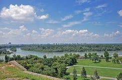 belgrade panorama royaltyfria bilder