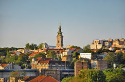 belgrade panorama royaltyfria foton