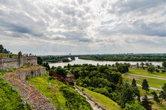 Belgrade, panoramiczny widok od Kalemegdan Fotografia Stock