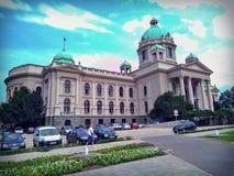 Belgrade parliament. Serbia parliament in Belgrade Royalty Free Stock Image