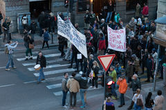 Belgrade protesterar April 2017, Serbien Royaltyfria Bilder