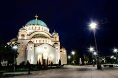 Belgrade przy noc zdjęcia royalty free