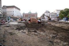 Belgrade przywr?cenie obraz stock