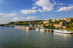 Belgrade from river Sava Stock Image