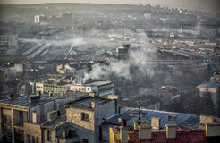 Belgrade Rooftops. A panoramic view of Belgrade rooftops Royalty Free Stock Photos