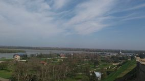 Belgrade rzecznych łodzi widok Obraz Royalty Free