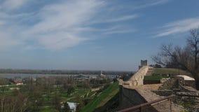 Belgrade rzecznych łodzi widok obrazy royalty free