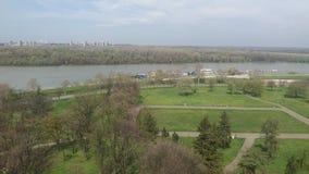 Belgrade rzeki widok Fotografia Royalty Free