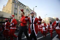 Belgrade Santa's Race Royalty Free Stock Images