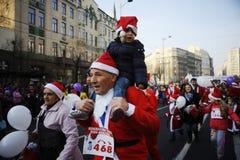 Belgrade Santa's Race Stock Photo