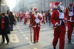 Belgrade Santa's Race Stock Photography