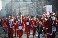 Belgrade Santa's Race Royalty Free Stock Photography