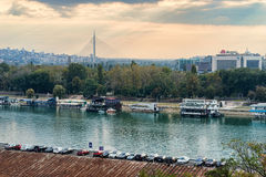 Belgrade Sava River Stock Photo