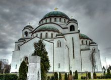 belgrade sava serbia st temple Στοκ Εικόνα