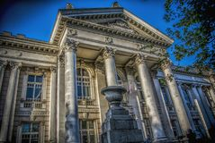 Belgrade University Library. Belgrade, Serbia – May 6th, 2013: University library `Svetozar Markovic` in Belgrade stock images