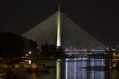 Belgrade Serbia Ada most najwięcej na Adi zdjęcie stock