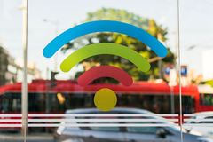 Colorful WI-FI sign royalty free stock photos