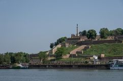 Kalemegdan fortress, Stambol Gate Monument to royalty free stock image