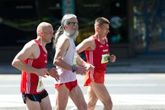 Men athletes from Switzerland, running marathon stock images