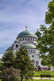 Belgrade, Serbia. April 18, 2016: The Serbian Orthodox Christian Church of St Sava built where remains of founder of the Serb Orthodox Church -Saint Sava Stock Photography