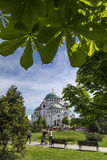 Belgrade, Serbia. April 18, 2016: The Serbian Orthodox Christian Church of St Sava built where remains of founder of the Serb Orthodox Church -Saint Sava Stock Images