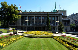 BELGRADE, SERBIA - AUGUST 15, 2016: Office of the President of Republic of Serbia in Belgrade. Serbia royalty free stock image