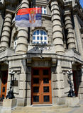 BELGRADE, SERBIA - AUGUST 15, 2016: Serbia governmental building exterior. Serbia royalty free stock photo