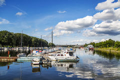 Belgrade, Serbia. Boats at Ada Ciganlija in Belgrade, Serbia Royalty Free Stock Image