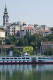 Belgrade Serbia Danube river Stock Photos