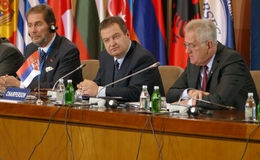 Belgrade, Serbia. December 13th 2016: 35th Meeting of the Counci. L of Ministers of Foreign Affairs of the Organization of the Black Sea Economic Cooperation Royalty Free Stock Photo