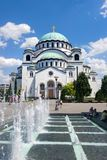 BELGRADE, SERBIA - JUNE 29, 2017: Church of Saint Sava in Belgra. De, Serbia, one of the largest Orthodox churches in the world on a sunny day Royalty Free Stock Photos