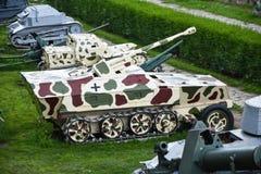 Belgrade / Serbia - 06 05 2019 : kalemegdan, Breach. tank and missile stock photo