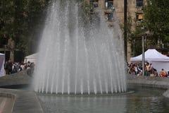 Belgrade, Serbia: kwiecień 16 2017 - Nikola Pasic kwadrat z zabytkiem i fontanną jest jeden środkowi rynki i miastowy Zdjęcia Royalty Free
