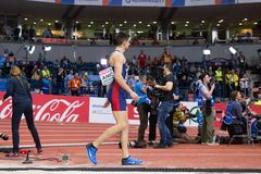 Long Jump Man LAZAR ANIC Stock Images