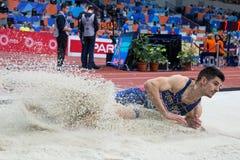 Long Jump Man LAZAR ANIC Stock Photography