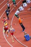 Athletics - Man 400m, MASLAK Pavel. BELGRADE, SERBIA - MARCH 3-5, 2017: Man 400m, MASLAK Pavel, European Athletics Indoor Championships in Belgrade, Serbia Royalty Free Stock Photo